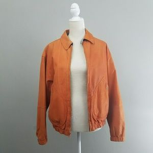 Vintage | Orange Leather Jacket